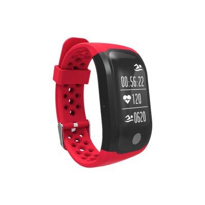 Montre sport GPS connectée avec tracker de sommeil Rouge