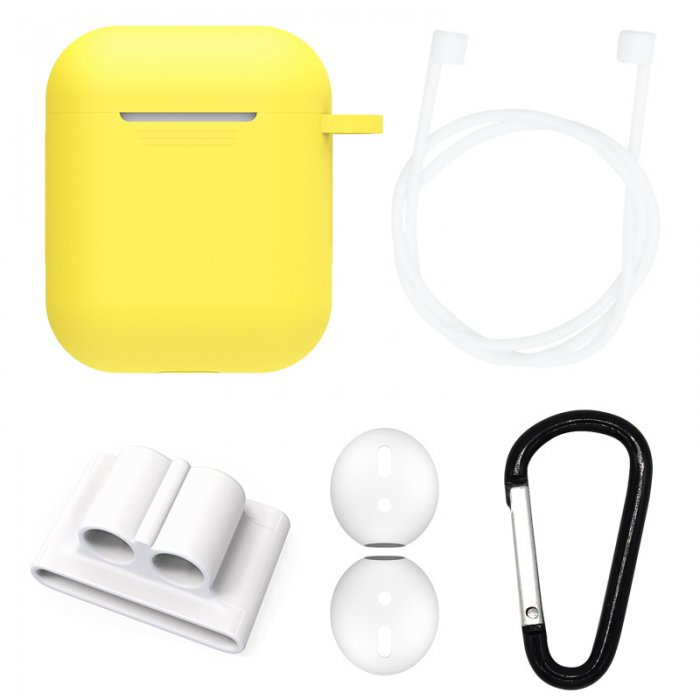 Etui silicone de protection pour Airpods Jaune Fluo