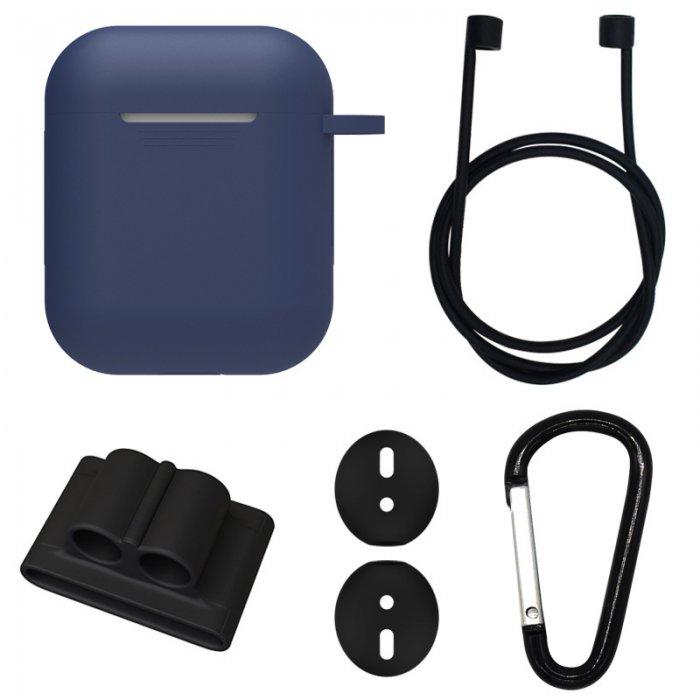 Etui silicone de protection pour Airpods Bleu Marine