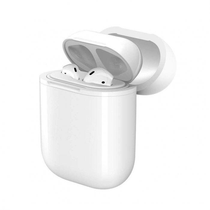 Etui silicone pour Airpods pour Chargement sans fil - Blanc