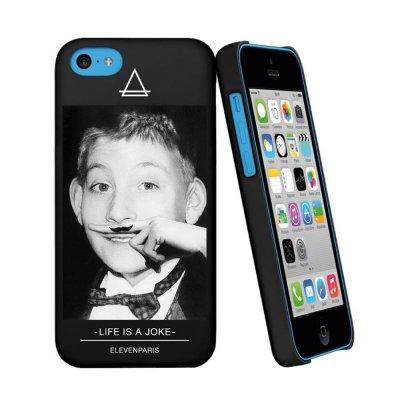 Eleven Paris coque noire toucher gomme Dewee pour iPhone 5C