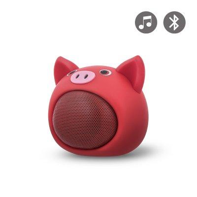 Enceinte bluetooth en forme de cochon -Rouge