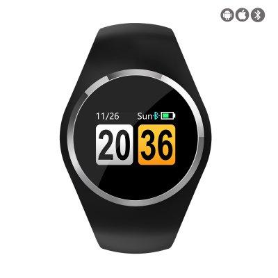 Montre connectée avec suivi d'activités compatible iOs et Android -  Noir