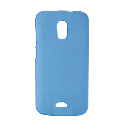 Coque rigide bleue clair toucher gomme pour Wiko Darkmoon