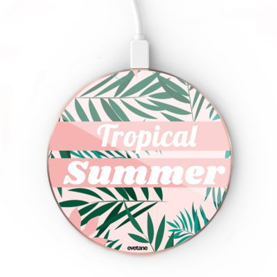 Chargeur Induction Tropical Summer Pastel Ecriture Tendance et Design Evetane