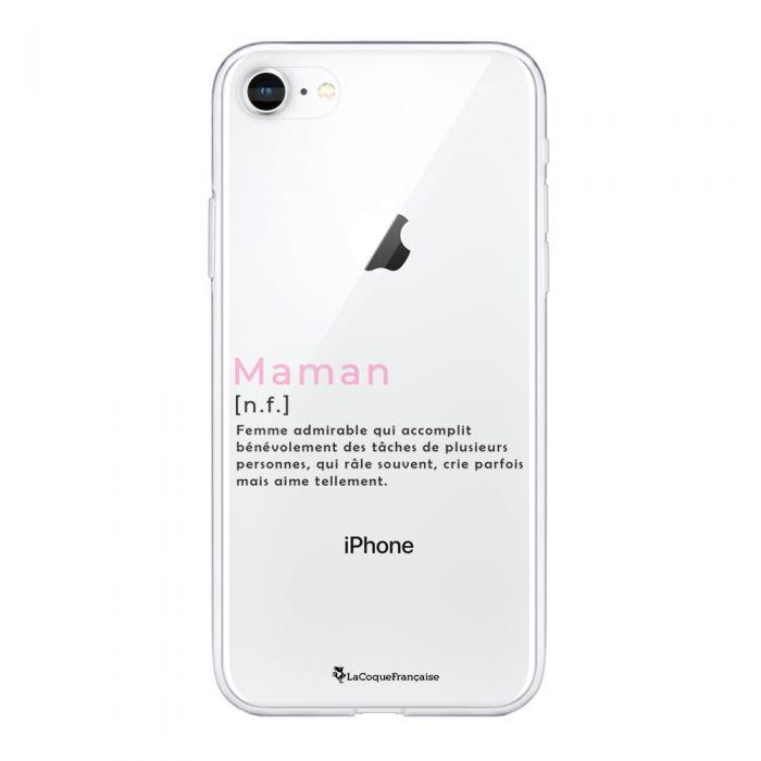 coque souple iphone 7 iphone 8 souple transparente maman definition motif ecriture tendance la coque francaise