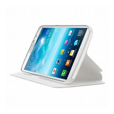 Mocca étui folio blanc avec support pour Samsung Galaxy Mega I9200
