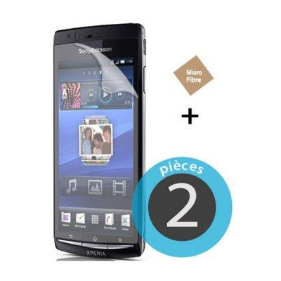2 Films plastique pour Sony Ericsson Xperia Arc S