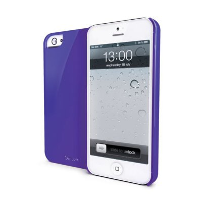 Muvit coque glossy violette pour iPhone 5 / 5S
