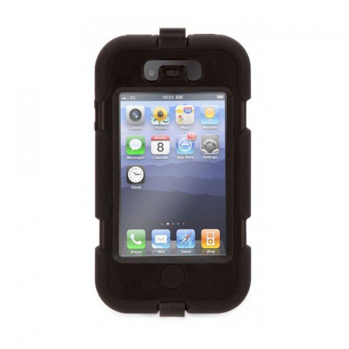 coque de protection survivor noir griffin pour iphone 4 4s