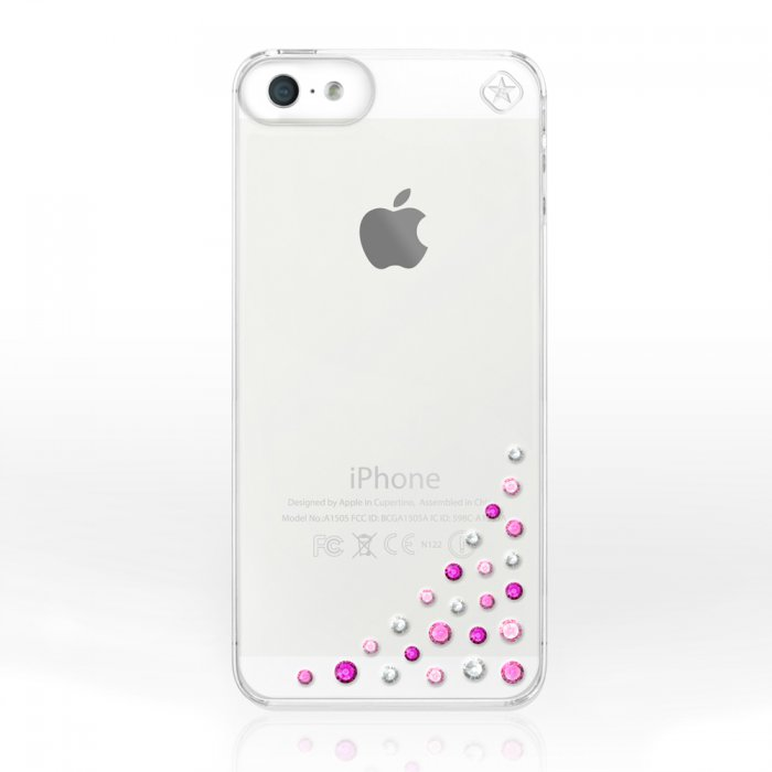 bling my thing coque avec cristaux swarovski diffusion pink mix pour iphone 5 5s