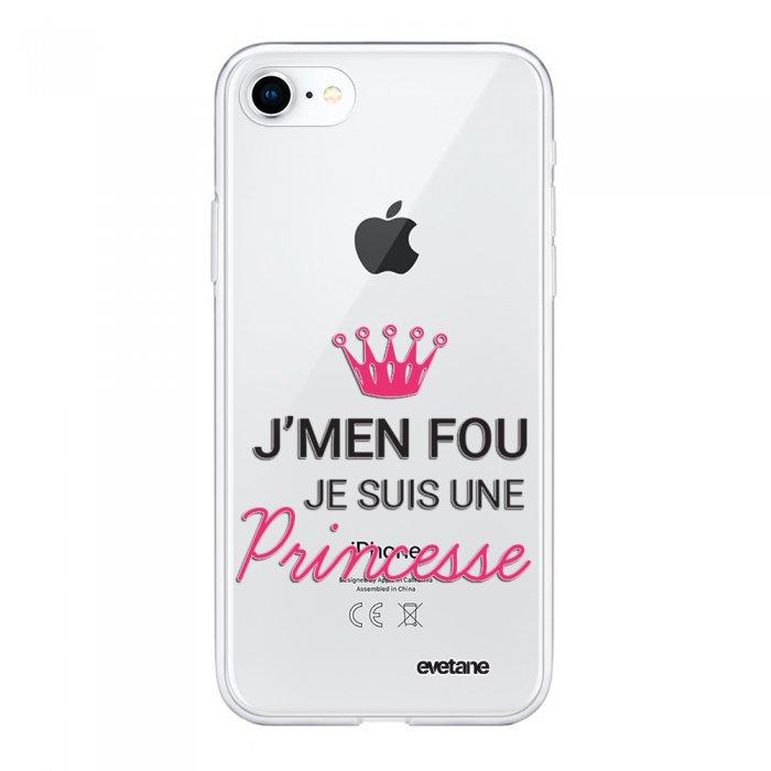 coque 360 iphone 7 iphone 8 360 integrale transparente je suis une princesse ecriture tendance et design evetane