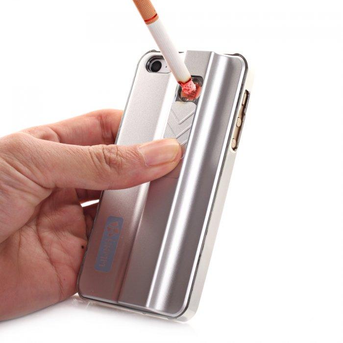 coque argent allume cigare integre pour iphone 5 5s