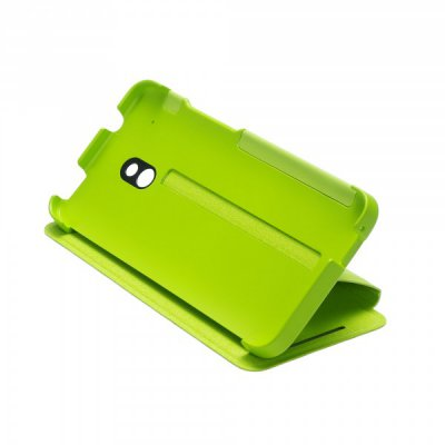 Etui Flip HTC One Mini Double Dip vert
