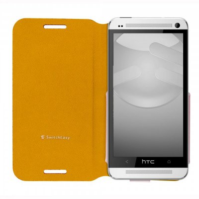 Etui Flip Switch Easy HTC One Tanned Yellow