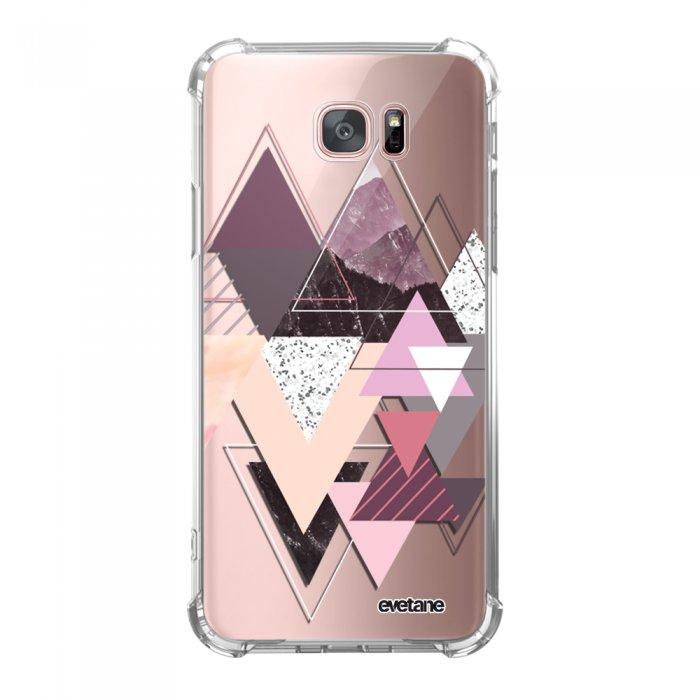 Coque Samsung Galaxy S7 Edge anti-choc souple angles renforcés transparente Triangles Design Evetane. - Coquediscount