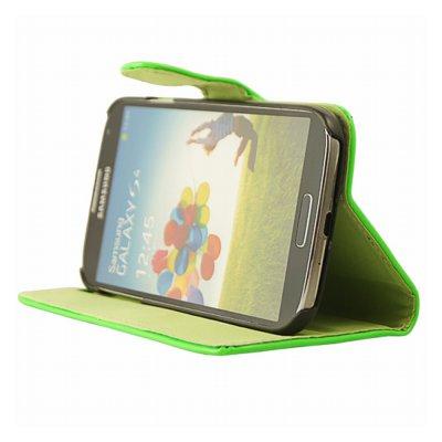 Mocca étui folio vernis vert fluo Samsung Galaxy S4 I9500