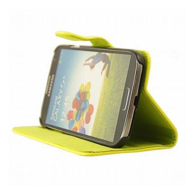 Mocca étui folio vernis jaune fluo Samsung Galaxy S4 I9500