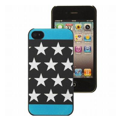 Mocca coque étoiles phosphorescente bleue pour iPhone 4 / 4S
