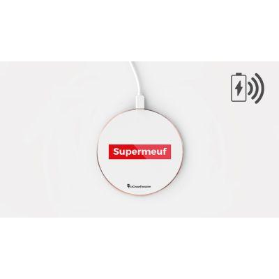 Chargeur Induction SuperMeuf Ecriture Tendance et Design La Coque Francaise