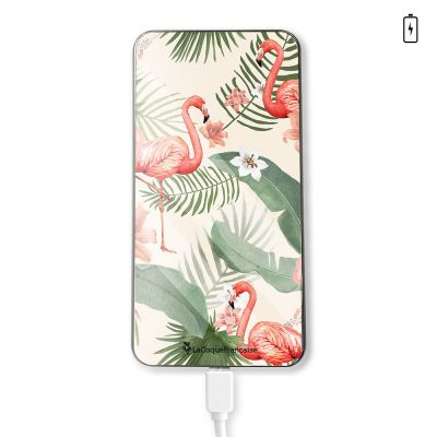 Batterie Flamants Rose Motif Ecriture Tendance La Coque Francaise