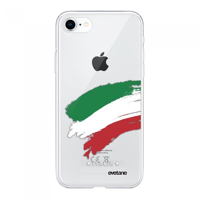 Coque iPhone 7/8/ iPhone SE 2020 souple transparente Italie Motif Ecriture Tendance Evetane - Coquediscount