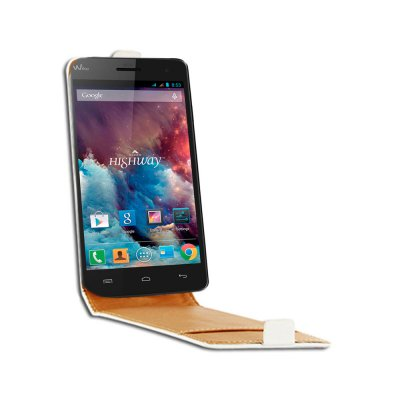 SWISS CHARGER Etui blanc pour Wiko Highway