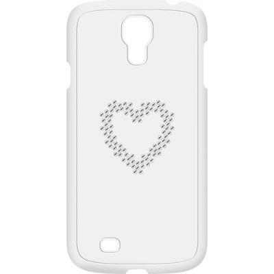 Coque Swarovski blanche motif coeur en strass pour Samsung Galaxy S4 I9500