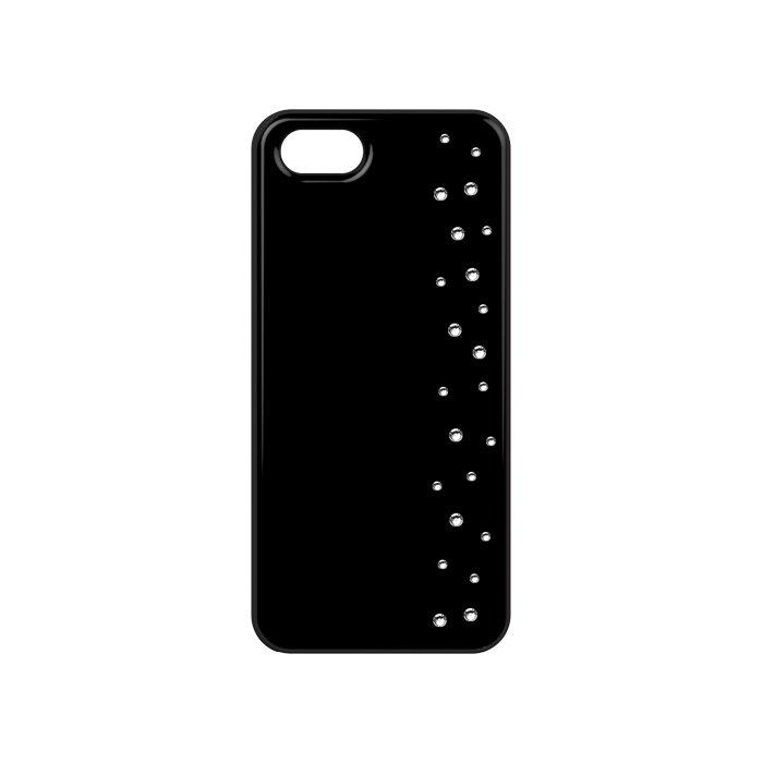 Coque noire avec cristaux Swarovski Elements motif pluie de strass pour iPhone 4/4S