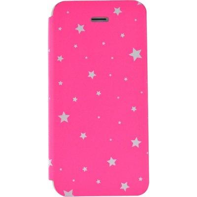 Etui folio rose avec étoiles pour iPhone 5/5S