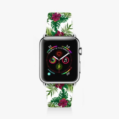 Bracelet Apple Watch en cuir 38-40mm Tropical La Coque Francaise