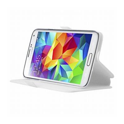 Mocca étui folio blanc avec support pour Samsung Galaxy S5 G900