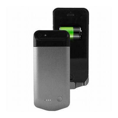Coque batterie 2200 mAh argentée sous licence MFI agrée Apple pour iPhone 5 / 5S