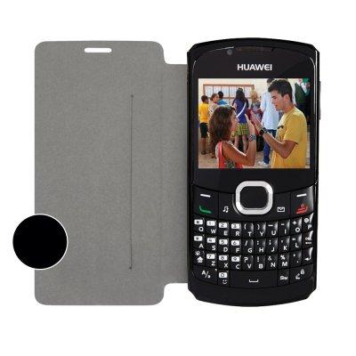SWISS CHARGER Etui folio noir pour Huawei Ascend G6