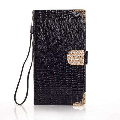 Etui livre croco noir à strass pour Samsung Galaxy S5 G900