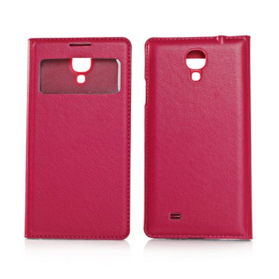 Etui livre rose sview fenêtre pour Samsung Galaxy S4 I9500