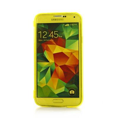 Etui livre en silicone jaune pour Samsung Galaxy S5 G900