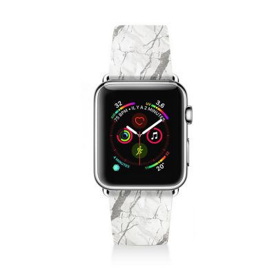 Bracelet Apple Watch en cuir 38-40mm Marbre gris La Coque Francaise