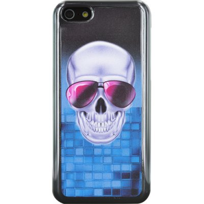 Coque made in France Tête de mort grise pour iPhone 5C