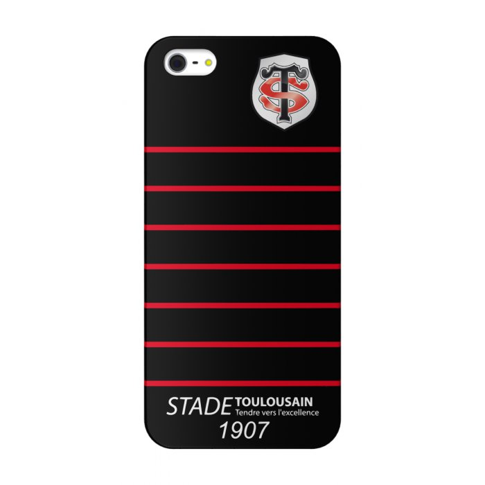 rugby coque stade toulousain noire lignes horizontales iphone 5 5s