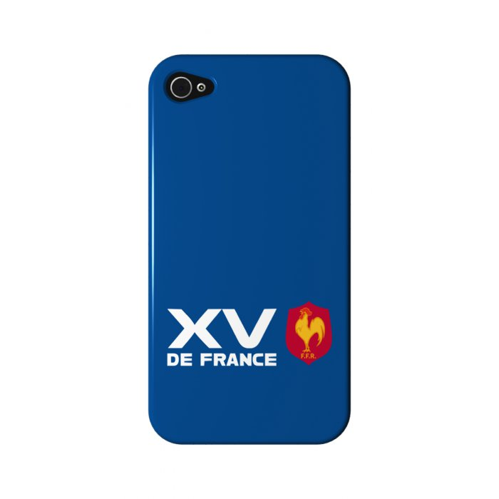 rugby coque xv de france bleue pour apple iphone 4 4s