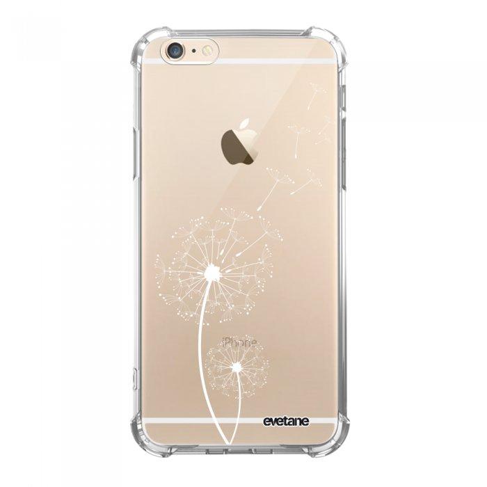 coque iphone 6 iphone 6s anti choc souple avec angles renforces transparente pissenlit blanc tendance evetane