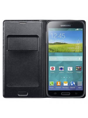 Etui Folio Samsung Galaxy S5 Wallet noir