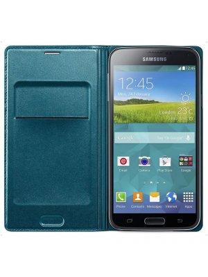Etui Folio Samsung Galaxy S5 Wallet vert