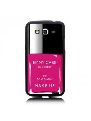 Coque vernis rose flashy pour Samsung Galaxy Grand 2 G7100