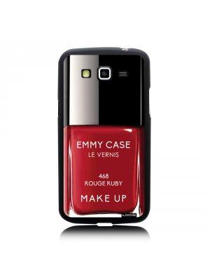 Coque vernis rouge ruby pour Samsung Galaxy Core plus G3500