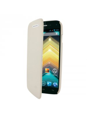 SWISS CHARGER Etui folio blanc pour Wiko Barry