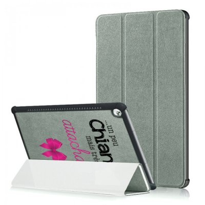Etui Huawei MediaPad T5 10.1 pouces Un peu chiante tres attachante Ecriture Motif Tendance