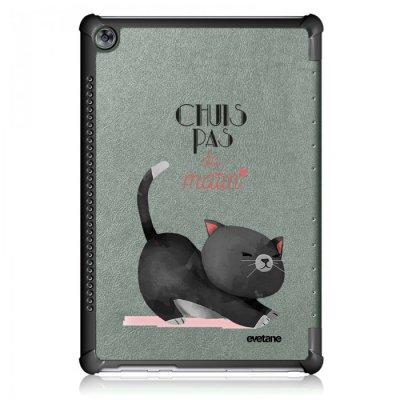 Etui Huawei MediaPad M5 10.8 pouces Chuis pas du matin Ecriture Motif Tendance