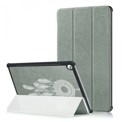 Etui Huawei MediaPad M5 10.8 pouces Attrape reve blanc Ecriture Motif Tendance